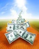 Flusso dei soldi Immagine Stock