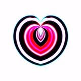 Flusso del biglietto di S. Valentino a forma di cuore Fotografie Stock