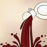 Flusso del caffè Fotografie Stock Libere da Diritti
