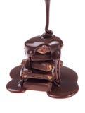 Flusso del cioccolato Fotografia Stock Libera da Diritti