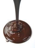 Flusso del cioccolato Fotografie Stock