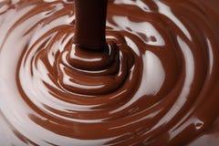 Flusso del cioccolato Fotografie Stock Libere da Diritti