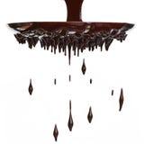 Flusso del cioccolato caldo fotografia stock