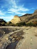 flusso del deserto Fotografie Stock