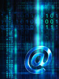 Flusso del email Fotografia Stock