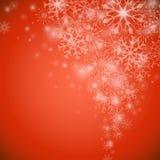 Flusso del fiocco di neve di Natale Fotografie Stock