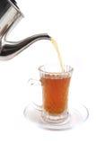 Flusso del tè di inglese nero fotografia stock