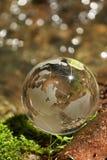 Flusso dell'acqua, globo, ecologia Fotografia Stock Libera da Diritti