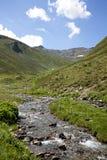 Flusso della montagna nelle alpi Fotografia Stock Libera da Diritti