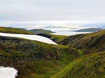 Flusso della valle su Novaya Zemlya (nuovo sbarco) Immagine Stock Libera da Diritti