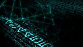 Flusso di flusso continuo di Digital, minaccia cyber di attacco illustrazione vettoriale