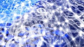 Flusso di flusso continuo di Digital, mondo digitale di sicurezza cyber immagine stock libera da diritti