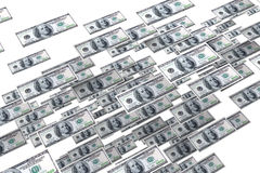 Flusso di denaro Fotografia Stock Libera da Diritti
