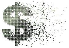 Flusso di denaro del dollaro Immagine Stock
