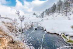 Flusso di inverno immagini stock