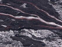 Flusso di lava alle Hawai Volcano National Park Immagini Stock Libere da Diritti