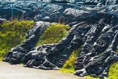 Flusso di lava d'avanzamento Fotografia Stock Libera da Diritti