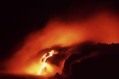 Flusso di lava di Kilauea Fotografia Stock