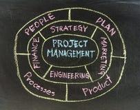 Flusso di lavoro di concetto del project manager Fotografie Stock
