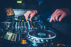 Flusso di lavoro di DJs immagine stock