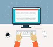 Flusso di lavoro per il computer Fotografia Stock