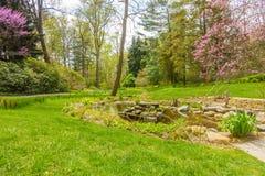 Flusso in giardino Fotografia Stock Libera da Diritti