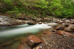 Flusso, la grande sosta nazionale delle montagne fumose fotografie stock