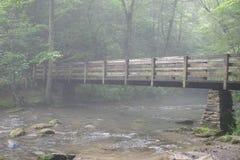 Flusso nebbioso della montagna Immagini Stock