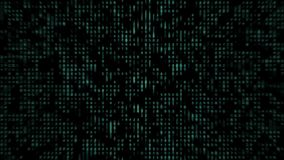 Flusso numerico dei numeri verdi tremuli video d archivio