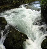 Flusso potente del fiume Immagini Stock