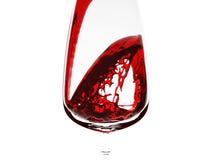 flusso rosso della vite 3d Fotografie Stock