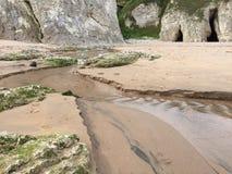 Flusso sulla spiaggia Fotografia Stock