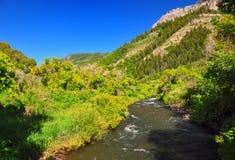 Flusso in una valle Fotografie Stock Libere da Diritti