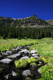 Flusso verde smeraldo Fotografie Stock Libere da Diritti