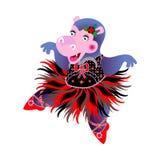Flusspferd-Ballerina Lizenzfreies Stockfoto