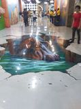 Flusspferd 3d Stockfoto