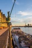 Flusspromenade Cologne Stockfoto