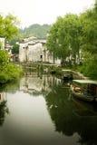 Flussstadt in der Südchina Stockfotografie