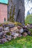 Flusssteine schließen oben, gestapelt lizenzfreies stockfoto