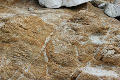 Flusssteine und Felsen auf Ufern des Vogels schaukeln, Pebble Beach, 17 Meilen-Antrieb, Kalifornien, USA Lizenzfreie Stockfotos