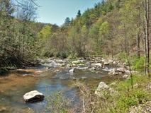 Flusssteine in Whitetop Laurel Creek Lizenzfreie Stockfotografie