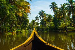 Flussszene in India& x27; s Kerala Bacwaters lizenzfreies stockbild