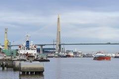 Flusstransport Stockfotografie