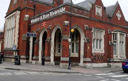Flussufer-Bahnhof Windsor und Eton Lizenzfreies Stockbild