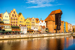 Flussufer in Gdansk Lizenzfreie Stockfotografie