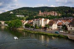 Flussufer-Schloss Lizenzfreies Stockfoto