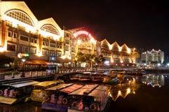 Flussufer in Singapur Stockfoto