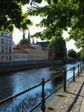 Flussufer in Uppsala Lizenzfreie Stockfotografie