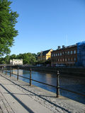 Flussufer in Uppsala Lizenzfreies Stockbild