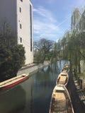 Flussuferhaus Stockfotografie